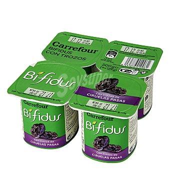 Carrefour Yogur Bífidus con ciruelas Pack 4x125 g