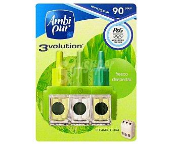 AmbiPur Ambientador eléctrico 3volution frescor de la mañana recambio 3 ud
