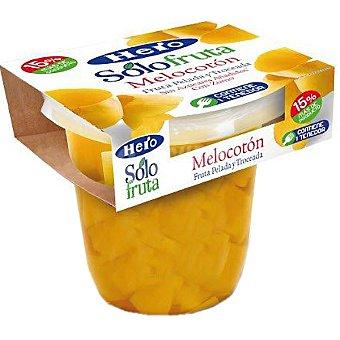 Hero Melocotón con zumo pelado y troceado sin azúcar añadido Solo Fruta contiene tenedor