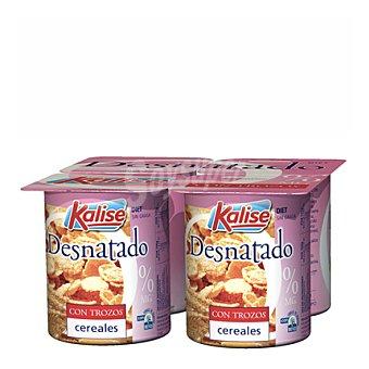 Kalise Yogur desnatado c/cereales Pack de 4x125 g