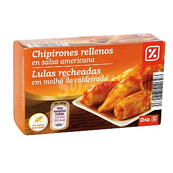 DIA Chipirones rellenos en salsa americana Lata 72 grs