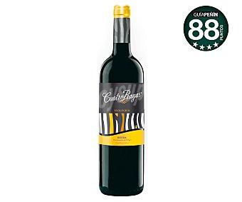 Cuatro Rayas Vino tinto roble ecológico con denominación de origen Rueda Botella de 75 centilitros