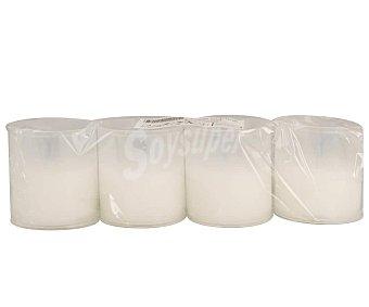 Aromático Lote de 4 velas blancas conmemorativas del número 40 con recubrimiento de plástico blanco aromático