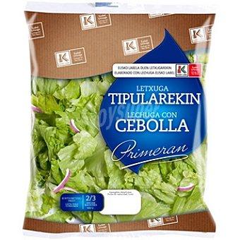 Primeran Lechuga batavia Eusko Label con cebolla Bolsa 160 g