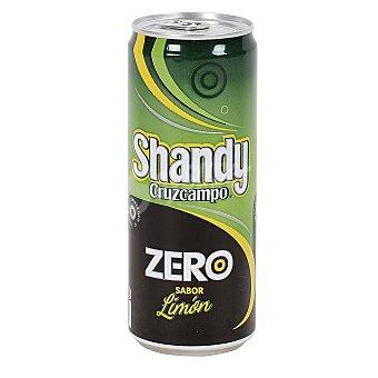 Shandy Cruzcampo Cerveza sin alcohol ZERO sabor a limón Lata 33 cl