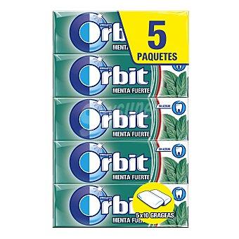 Orbit Chicles de peppermint sin azúcar Pack 4 envases 14 g