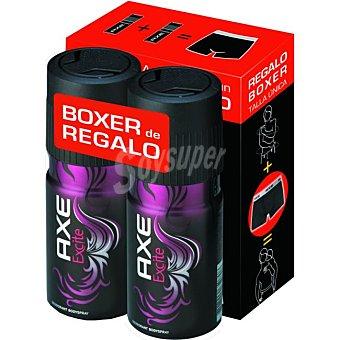 Axe Desodorante Excite Pack 2x150 ml + Regalo