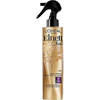 ELNETT Satin Fijador protector del calor Liso anti-encrespamiento Spray 170 ml