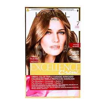 Excellence L'Oréal Paris Tinte coloración Crème Triple Protección, rubio nº 7 rubio  Caja 1 unidad