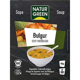 Naturgreen Bio Bulgur sopa de verduras ecologica y sin lactosa 2 raciones envase 40 g