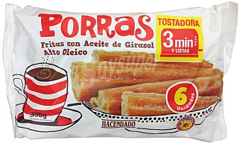 Hacendado Porras fritas/churros congelados Paquete 300 g