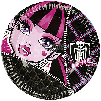 LIRAGRAM plato cartón decorado Monster High 23 cm  8 unidades