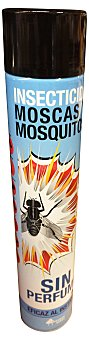 Bosque Verde Insecticida spray SIN perfume (insectos voladores) (color azul) Bote 750 cc