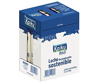 Kaiku Leche entera de vaca de producción sostenible KM0 6 x 1 l