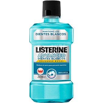 LISTERINE Enjuague bucal Advance mantiene los dientes blancos frasco 250 ml