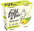 Yogur 0% materia grasa, sin edulcorantes artificiales ni azucares añadidos y con piña y agua de coco 4 x 115 g Light & Free Danone