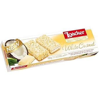 Loacker Galletas con chocolate blanco y crema de coco paquete 100 g