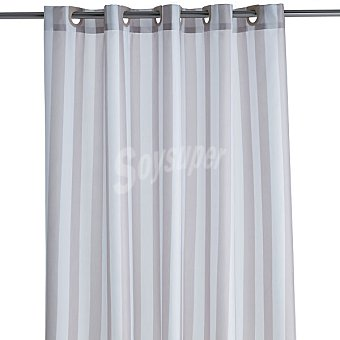 CASACTUAL Ana Cortina de baño con rayas beige