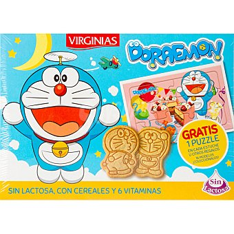 Virginias Doraemon galletas de desayuno sin lactosa con cereales y 6 vitaminas  Paquete 120 g