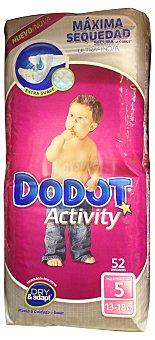 Dodot Activity Pañal 13 a 18 kg Talla 5 Paquete de 52 unidades