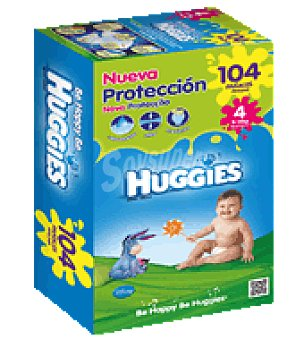 Huggies Pañal superseco dúo T4 9-15 Kg. 104 ud