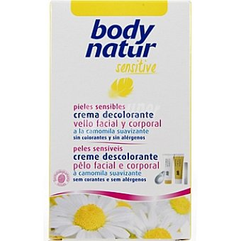 BODY NATUR Crema decolorante Sensitive facial y corporal a la camomila suavizante pieles sensibles Tubo 50 ml
