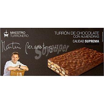 MARTIN BERASATEGUI Maestro Turronero Turrón de chocolate con almendras Calidad Suprema Tableta 250 g