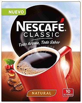 Nescafé Café soluble Classic natural 10 sobres (20 gramos)