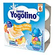 Postre Lácteo de Melocotón y Plátano desde 6 meses Sin Gluten 4x100 G Pack 4 x 100 g Yogolino Nestlé