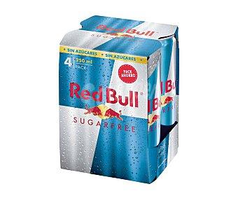 Red Bull Sugar free bebida energética sin azúcar pack 4 lata 25 cl