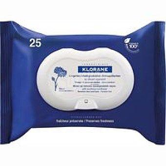 Klorane Toallitas desmaquillantes aciano Pack 2x25 unid