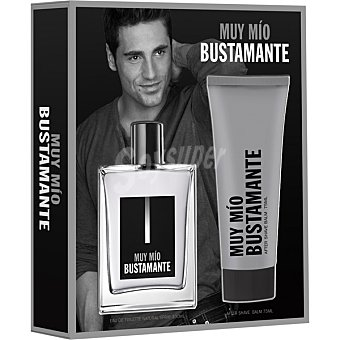 Bustamante Muy Mio eau de toilette natural masculina + balsamo after shave tubo 75 ml Spray 100 ml