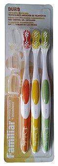 Deliplus Cepillo dental duro Paquete 3 u
