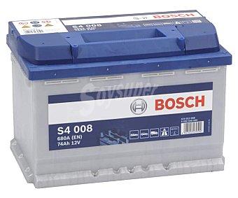 Bosch Batería de coche 12V 74AH S4008