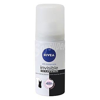 Nivea Desodorante Black & White Clear Invisible anti-manchas tamaño viaje spray 35 ml Spray 35 ml