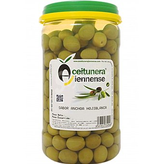 Aceitunera Jiennense Aceitunas rellenas sabor anchoa Hojiblanca tarro 700 g neto escurrido Tarro 700 g neto escurrido