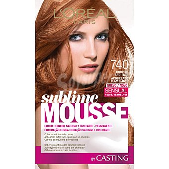 Sublime L'Oréal Paris Tinte Cobrizo Ardiente Nº 740 caja  1 ud