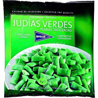 Hipercor judías verdes planas troceadas bolsa 1 kg