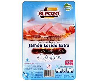 ElPozo Jamón cocido extra, reducido en sal Bienestar 90 Gramos