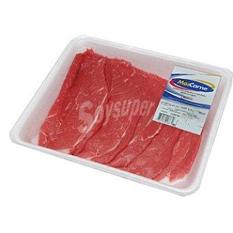 Mascarne vaca filetes de 1ª A peso aproximado bandeja 800 g
