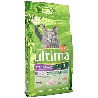 Ultima Affinity Alimento para gatos esterilizados con pollo Bolsa 3 kg