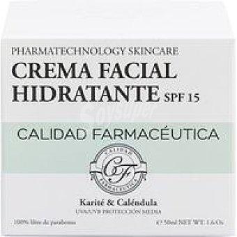 Calidad farmaceutica Crema facial hidratante FPS15 Tarro 50 ml