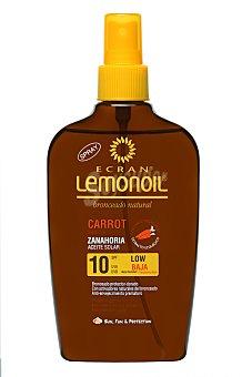 Ecran Aftersun Aceite solar protector, factor protección 10 Lemonoil 200 Mililitros