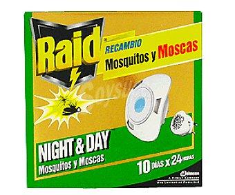 Raid Recambio Insecticida Eléctrico Mosquitos Y Moscas Night&Day 1u