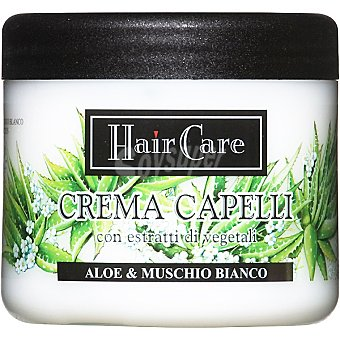 HAIR CARE mascarilla Aloe & Musgo Blanco con extractos de plantas  tarro 500 ml