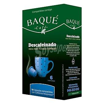 Café Baqué Café descafeinado Caja 10 monodosis