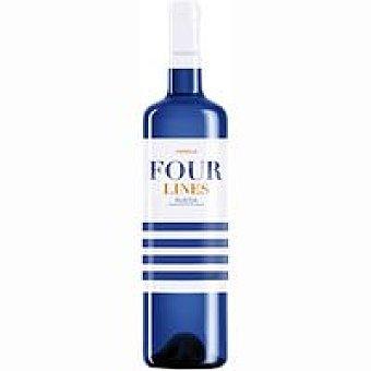 FOUR LINES Vino blanco verdejo Botella de 75 cl