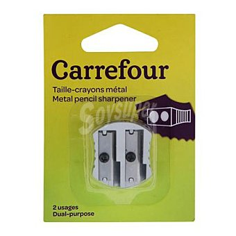 Carrefour Sacapuntas Metal 2 Orificios 2 ud