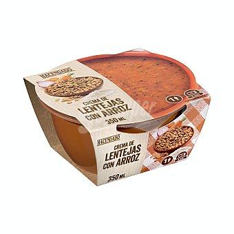 Hacendado Crema líquida natural lentejas y arroz refrigerada (sin conservantes) Tarrina 350 g