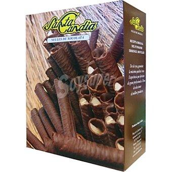 SANTA CANDIA Neulas bañadas en chocolate caja 350 g 20 unidades